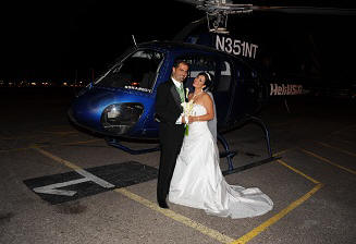 Strip Helicopter Wedding Ceremony